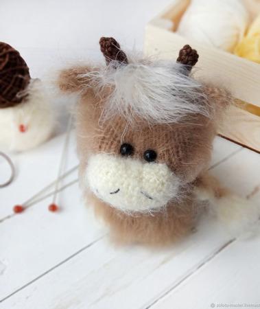 Вязаная игрушка Бычок Серджио (Серёга) ручной работы на заказ