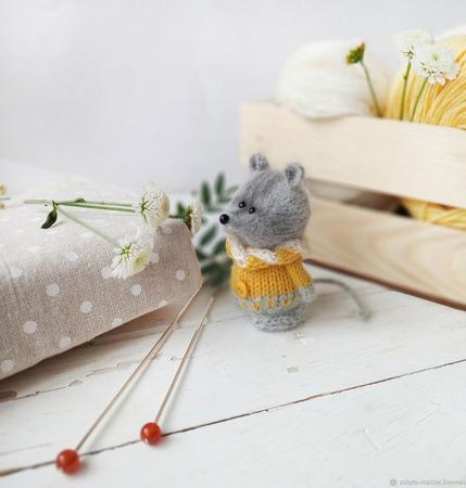 Интерьерная игрушка Мышонок Солнышко ручной работы на заказ