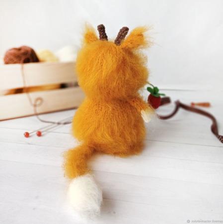 Вязаная игрушка Коровка Алёнка ручной работы на заказ