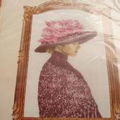 """Набор для вышивки """"Дама в шляпе"""""""