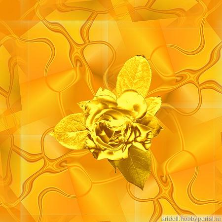 "Бумага упаковочная ""Золотая роза"" шаблон для печати ручной работы на заказ"