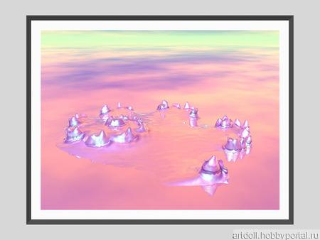 """Постер """"Планета Лабиринт"""" ручной работы на заказ"""