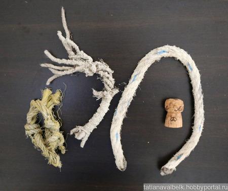Куски веревки каната морские находки ручной работы на заказ