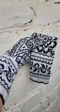 """Перчатки """"Снежинка-3"""" ручной работы на заказ"""