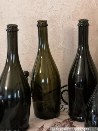 Бутылки от шампанского (декор) в ассортименте ручной работы на заказ