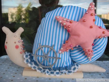 Морская Тильда улитка ручной работы на заказ