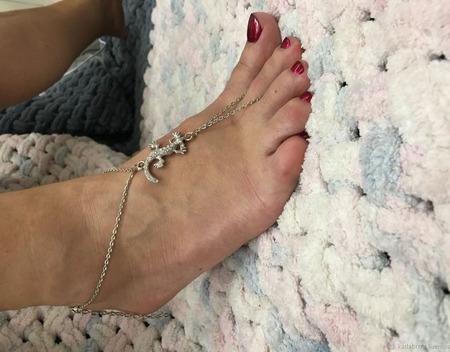 Слейв-браслет на ногу с ящеркой ручной работы на заказ
