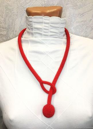 МК Серьги, колье, браслет из бисера (крючком) ручной работы на заказ