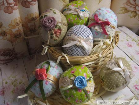Пасхальные интерьерные яйца ручной работы на заказ