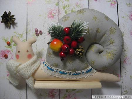 Улитка тильда новогодняя ручной работы на заказ