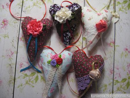 Интерьерные сердечки Тильда ручной работы на заказ