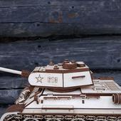 Готовая модель - танк Т-34-85 деревянный