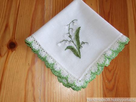 Платочки кружевные с вышивкой ручной работы на заказ