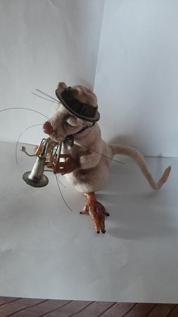 """Войлочная игрушка """"Весь этот джаз..."""" ручной работы на заказ"""