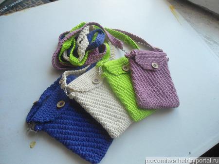 Сумочка вязанная ручной работы на заказ
