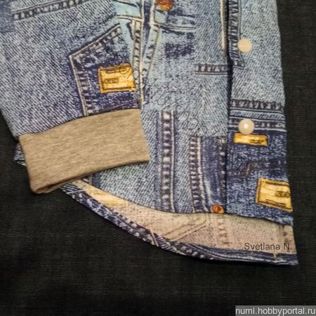 Рубашка с капюшоном ручной работы на заказ