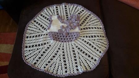 Детское ажурное платьице ручной работы на заказ