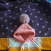 Детский кардиганчик, выполненный с стиле градиент