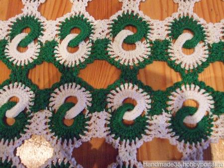 Скатерть вязаная двухцветная ручной работы на заказ