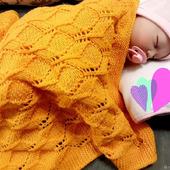 Детский плед вязаный полушерстяной