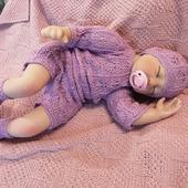 Боди + шапочка + носочки для новорожденного