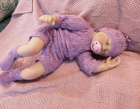 Боди + шапочка + носочки для новорожденного ручной работы на заказ