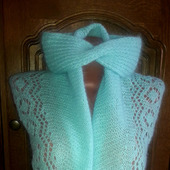 Ажурная шарф-шаль и повязка на голову