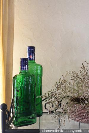 Бутылки зеленое стекло с крышками бехеровка ручной работы на заказ