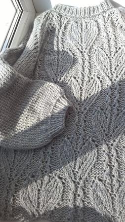 Джемпер большого размера из хлопка ручной работы на заказ