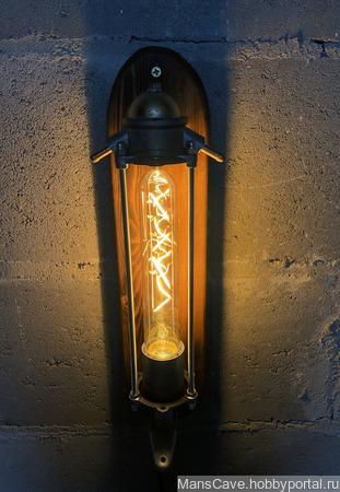"""Настенный светильник в стиле лофт/стимпанк """"Fuel my Fire"""" ручной работы на заказ"""