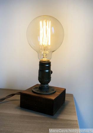 """Настольная лампа """"Минимализм"""" в стиле Лофт/Индастриал ручной работы на заказ"""