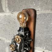 Настенный светильник в стиле лофт/стимпанк