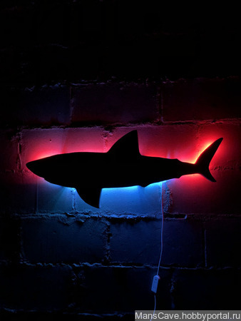 """Настенный светильник/панно/ инсталяция """"Акула"""" ручной работы на заказ"""