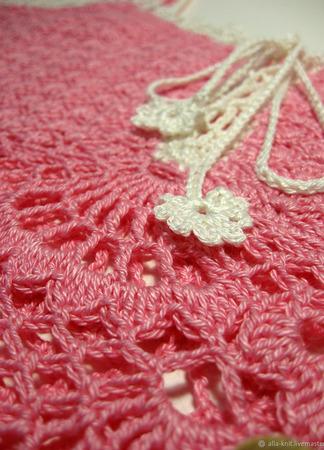 """Топ вязаный крючком """"Розовый фламинго"""" ручной работы на заказ"""