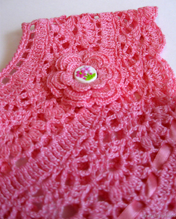 Платье вязаное крючком детское ручной работы на заказ