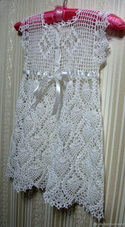 Платье для девочки вязаное крючком ручной работы на заказ
