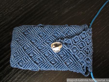 Чехол для сотового из вощеного шнура в технике макраме ручной работы на заказ