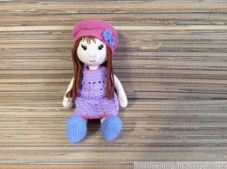Кукла в шапочке амигуруми ручной работы на заказ