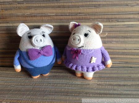 Свинки амгуруми ручной работы на заказ