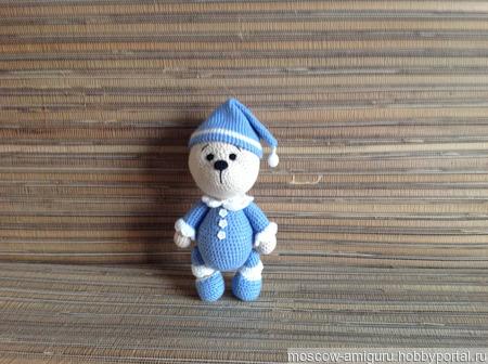 Мишка в пижаме амигуруми ручной работы на заказ