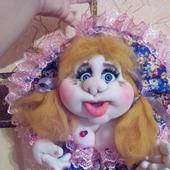 """Попик на удачу """"Маруся"""" (кукла из капрона)"""