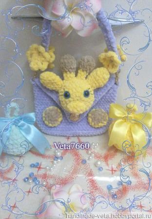 Веселая плюшевая сумочка-игрушка ручной работы ручной работы на заказ