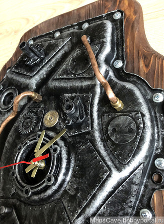 "Настенные часы ""Стимпанк"" ручной работы на заказ"