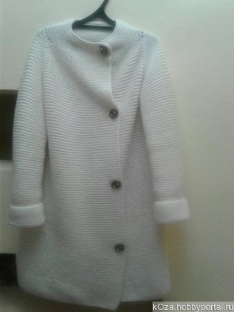 Пальто с воротником-стойкой ручной работы на заказ