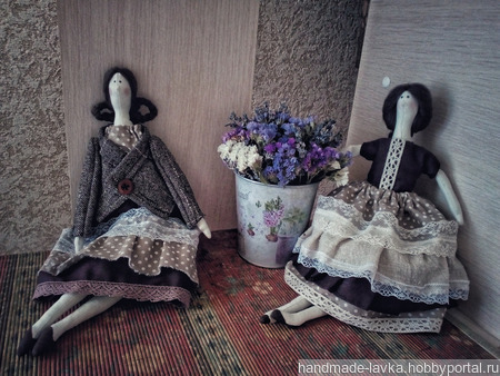Кофейная Кукла Тильда ручной работы на заказ