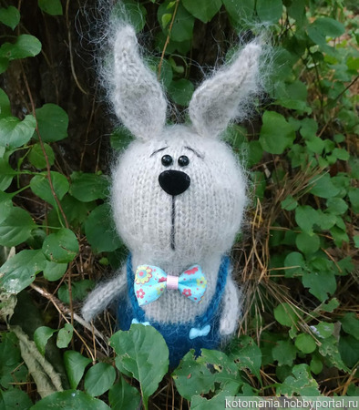 Вязаный кролик ручной работы на заказ
