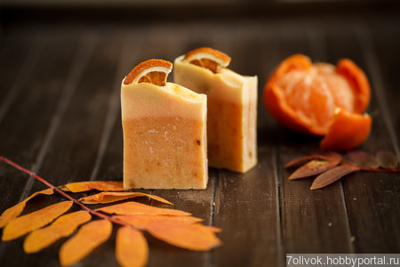 "Мыло ""Апельсин"" ручной работы на заказ"