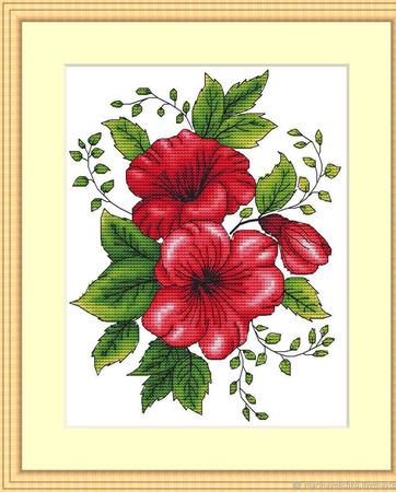 """Схема для вышивки """"Цветочный мотив"""" ручной работы на заказ"""