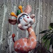 Игрушка из капрона Жирафик