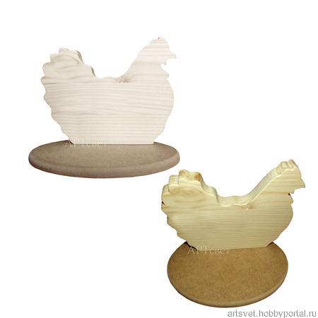 097 Курица на подставке. Деревянные заготовки ручной работы на заказ